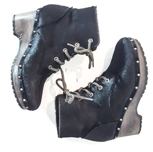Opening Ceremony Clogs Wedge black Boots