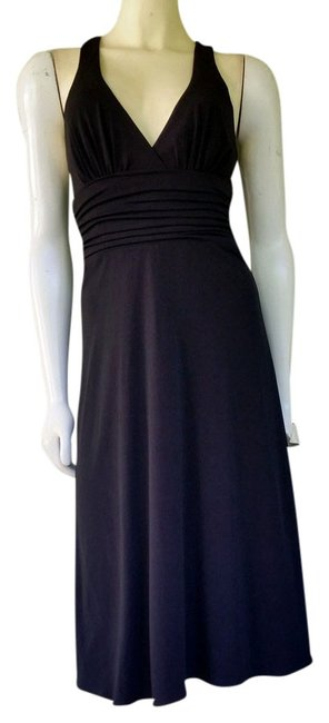 Preload https://item1.tradesy.com/images/black-ruched-waist-cocktail-knee-length-night-out-dress-size-6-s-2127120-0-0.jpg?width=400&height=650