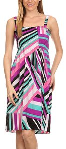 BellaBerry short dress Pink and Green Striped Halter Top Sleeveless on Tradesy