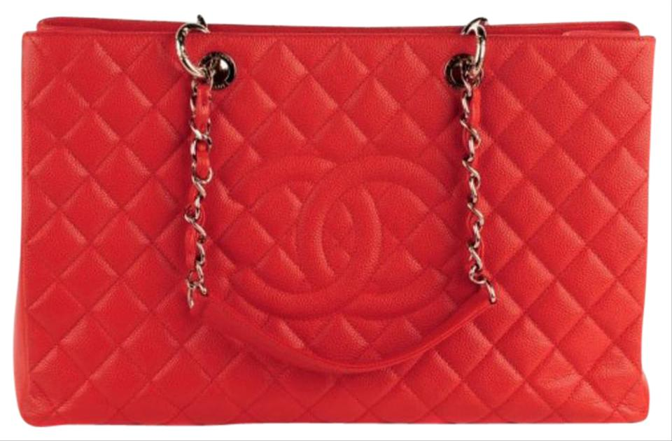 f968f3db18c1 Chanel Xl Gst Quilted Grand Shopping Flap Shopper Shw 12c Red Caviar ...