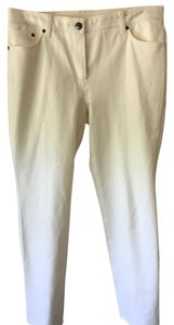 Chico's Slacks Stretchy Jean Relaxed Pants White