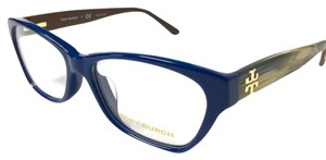 Tory Burch Tory Burch Eyeglasses Blue and Horn with Case