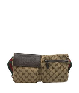 Gucci Waist Canvas Shoulder Bag