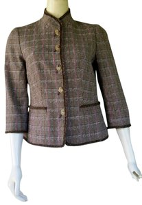 Worth Brown Plaid Blazer