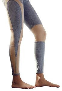 Free People Moto Inspired Mesh Inserts Grey Leggings