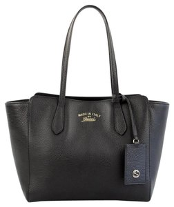 Gucci 354408 Leather New Tote in Black