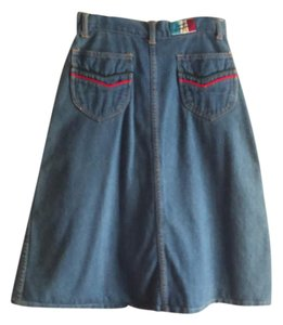 Other Chevron Jean Vintage Skirt Denim
