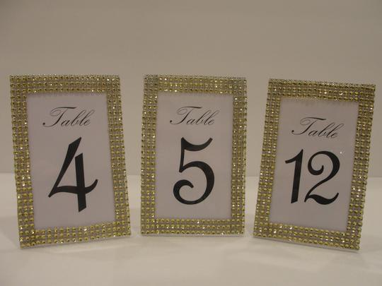 Rhinestone Style Table Number Frames