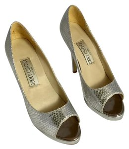 Jimmy Choo Silver Platforms