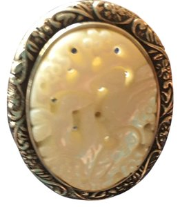 Amy Kahn Russell Amy Kahn Russell mother of pearl carved ring