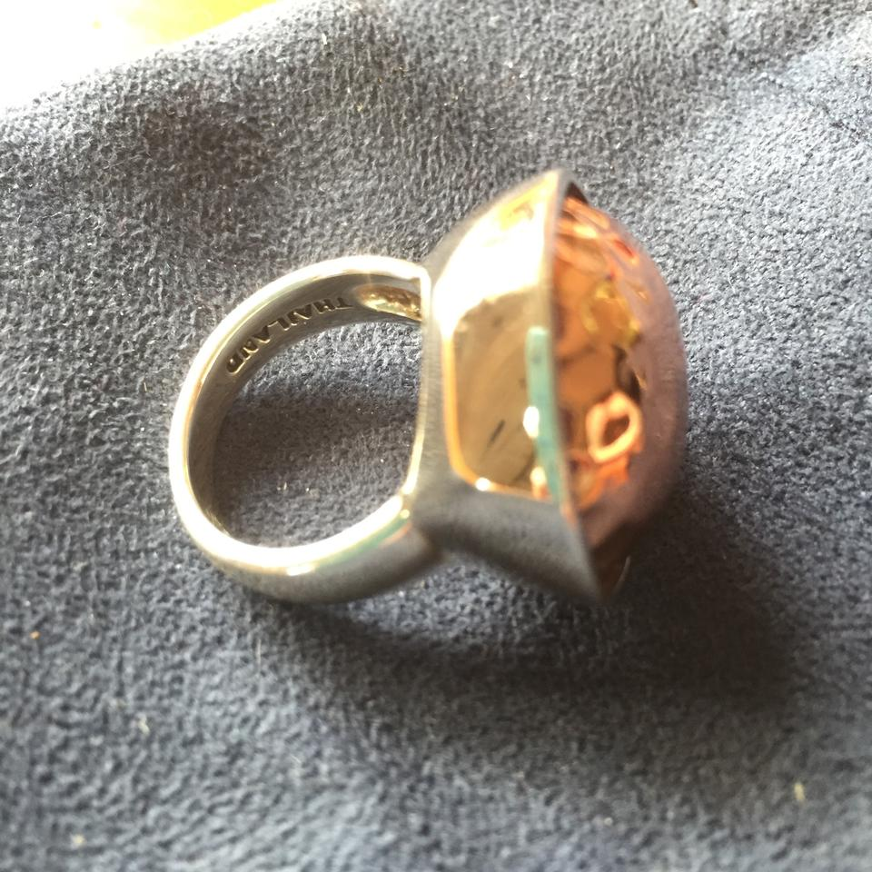 Bronzed by Barse Hammered Ring