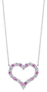 Tiffany & Co. Diamond and Pink Sapphire Heart Pendant