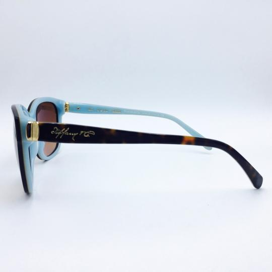 ba6c4f5b7bb Tiffany   Co. Classic Tortoise on Tiffany Blue Square Sunglasses TF 4083  8134 3B