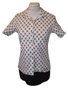 Gucci Stretchy Cotton Shell Button Down Shirt white
