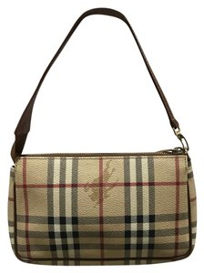 Burberry Plaid Clutch Handbag House Baguette