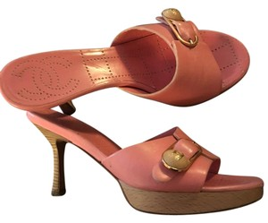 Chanel Leather Pink Sandals