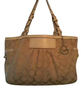 Coach Signature Monogram Shoulder Bag