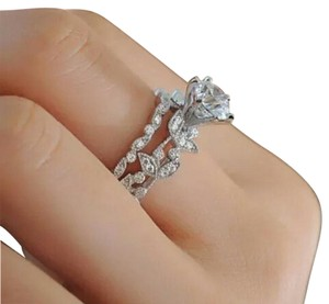 Other Vintage style white gold filled ring set