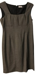 Calvin Klein Sheath Herringbone Slim Fit Dress