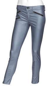 Rag & Bone Skinny Pants Metallic Steel