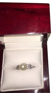 Littman Jewelers White Gold, Diamond and Pearl Ring