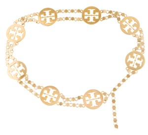 Tory Burch Gold-tone chain-link Tory Burch Reva logo waist belt