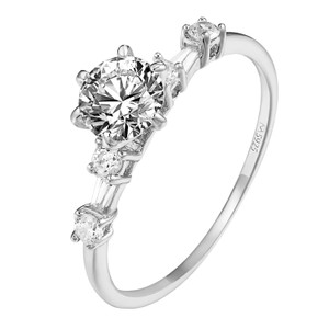 Other 925 Sterling Silver Solitaire Womens Ring Wedding Engagement Prong Set