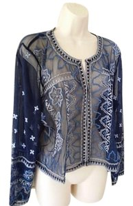 Chico's Bolero blue Jacket