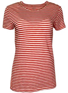 J.Crew Striped Cotton T Shirt Red/White