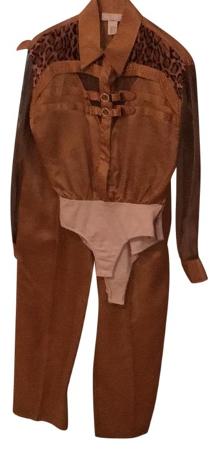 Item - Gold with Brown Pant Suit Size 6 (S)