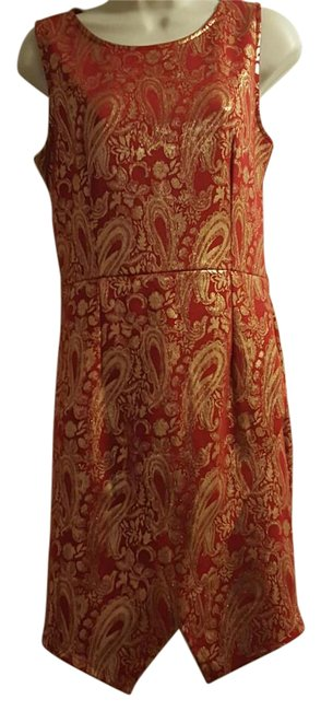 Item - Asian Inspired Split Mid-length Night Out Dress Size 12 (L)