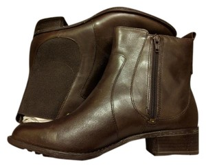 Hush Puppies Ankle Leather Dark Brown Boots