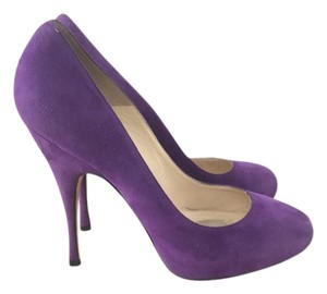 Brian Atwood Ba Purple Suede Pumps