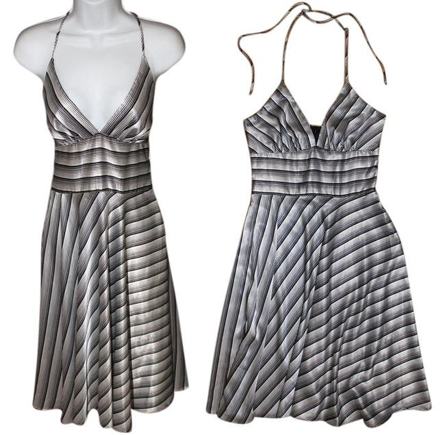 Item - New York Women's 3/4 Striped Excellent Condition Above Knee Night Out Dress Size 4 (S)