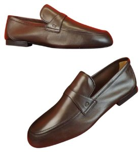 Gucci Mens Cocoa Flexible Soft Leather Interlocking Gg Loafers 13.5 #368468