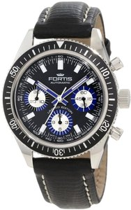 Fortis Fortis Mens Marinemater 800.20.85 L.01 Black Automatic Chronograph New