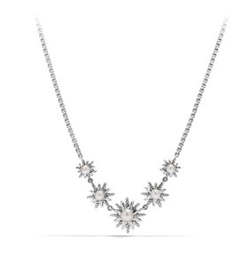 David Yurman New Starburst Five-Station Necklace with Pearls