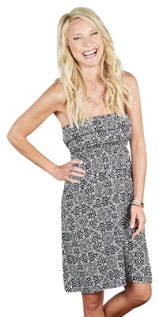 Item - Black and White Strapless Lani Short Casual Dress Size 4 (S)