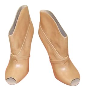 Delman Leather Nude/Sand Boots