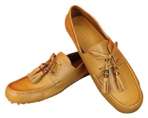 Gucci Mens Wildfire Leather Damo Bamboo Tassel Driver Loafers 13.5 14.5