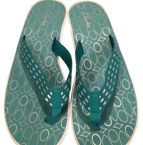 Clarks New Never Worn Turquoise Sandals