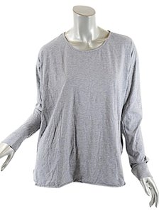 James Perse James Heather Cotton Knit T Shirt Gray