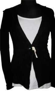 Elizabeth and James Suede Tailored Black Blazer