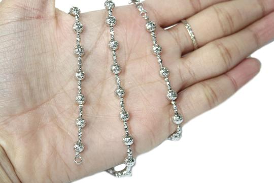 Other 14KT. White Gold Candy Crystal Cut Chain for Women Image 2