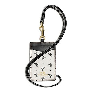 Coach Coach Butterfly Dot Print Coated Canvas Lanyard ID Holder NWT