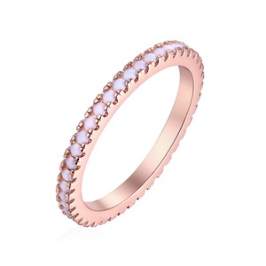 Tori Hamilton 18K Gold Plated Rose Gold & 1CTTW Opal Band - Size 6 (R1601-01-6)