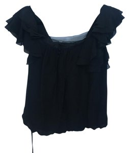 Rebecca Taylor Sheer Top Black