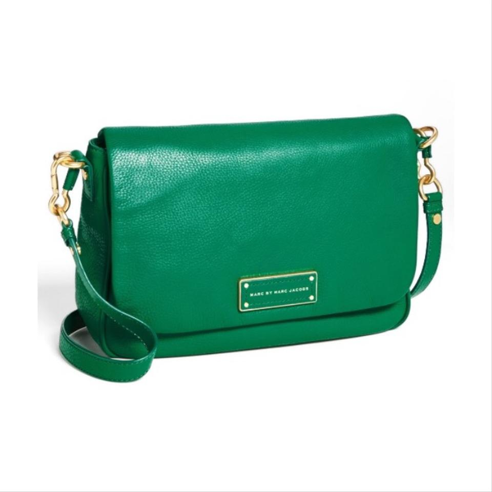 22c3c9fd0a Marc by Marc Jacobs M0001350 Soccer Pitch Green Leather Cross Body ...