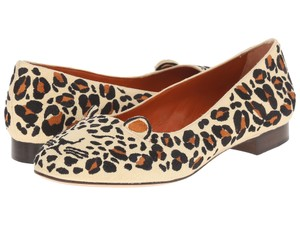 Charlotte Olympia Linen Leopard Print Exotic Sold Out multi-color Flats
