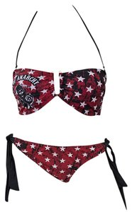 Sons Of Anarchy SONS OF ANARCHY STAR TUBE TOP RED BIKINI Swimsuit S
